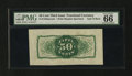 Fractional Currency:Third Issue, Fr. 1339SP 50¢ Third Issue Spinner Type II Wide Margin Back PMG GemUncirculated 66....