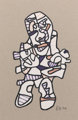 JEAN DUBUFFET (French, 1901-1985) Personnage, 1974 Felt-tip pen and paper collage 11-1/2 x 7-1/2 inches (29.2 x 19.1
