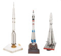 Explorers:Space Exploration, Three Presentation Rocket Models from the Estate of Soviet Space Dignitary Vasily Savinsky.... (Total: 3 Items)