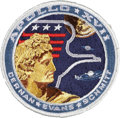 Explorers:Space Exploration, Apollo 17 Flown Embroidered Mission Insignia Patch Originally fromthe Personal Collection of Mission Commander Gene Cernan, C...