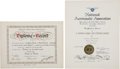 Explorers:Space Exploration, Gemini 5 World Record Certification Documents Signed by MissionCommander Gordon Cooper, Originally from the Personal Collecti...(Total: 2 Items)