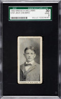 Baseball Cards:Singles (Pre-1930), 1903 E107 Breisch Williams Jack Chesbro SGC 30 Good 2....