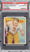 Football Cards:Singles (Pre-1950), 1935 National Chicle Bronko Nagurski #34 PSA Authentic....