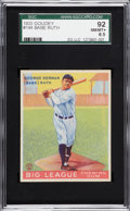 Baseball Cards:Singles (1930-1939), 1933 Goudey Babe Ruth #144 SGC 92 NM/MT+ 8.5....