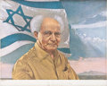 "Autographs:Non-American, David Ben-Gurion Limited Edition Lithograph Signed ""D.Ben-Gurion"" in pencil, July 1973, Israel. This Living Legends,Lt..."