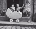Photographs, BILL PERLMUTTER (American, b. 1932). Carriage and Broom, 1956. Gelatin silver, 1956. Paper: 8 x 10 inches (20.3 x 25.4 c...