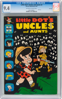 Little Dot's Uncles and Aunts #2 File Copy (Harvey, 1962) CGC NM 9.4 Off-white to white pages