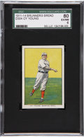 Baseball Cards:Singles (Pre-1930), 1911-14 D304 Brunners Bread Cy Young SGC 80 EX/NM 6....