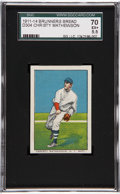 Baseball Cards:Singles (Pre-1930), 1911-14 D304 Brunners Bread Christy Mathewson SGC 70 EX+ 5.5....