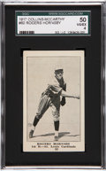 Baseball Cards:Singles (Pre-1930), 1917 Collins-McCarthy Rogers Hornsby #80 SGC 50 VG/EX 4....