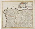 Miscellaneous:Maps, Frederik de Wit. Three Excellent Hand-Colored Maps of Germany, ca.1670. All maps with original hand coloring, uniform tonin...(Total: 3 Items)