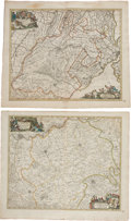 Miscellaneous:Maps, Nicolaas Visscher. Four Outstanding Hand-Colored Maps of theNetherlands, ca. 1680. All maps with original hand coloring...(Total: 4 Items)