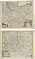 Miscellaneous:Maps, Frederik de Wit. Four Superb Hand-Colored Maps of Germany, ca.1670-1700. All maps with original hand coloring, uniform toni...(Total: 4 Items)