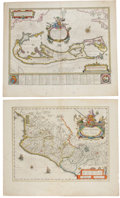 Miscellaneous:Maps, Blaeu. Four Hand-Colored Maps of the New World, ca. 1630-1640. Allmaps have original hand coloring, uniform toning of paper...(Total: 4 Items)