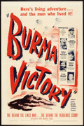 "Movie Posters:Documentary, Burma Victory (Warner Brothers, 1945). One Sheet (27"" X 41""). World War II Documentary.. ..."