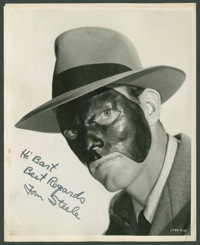 """Tom Steele in """"The Masked Marvel"""" (Republic, 1943). Autographed Still (8"""" X 10""""). Serial"""