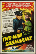 "Movie Posters:War, Two-Man Submarine (Columbia, 1944). One Sheet (27"" X 41""). War....."