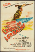 """Movie Posters:War, The Cross of Lorraine (MGM, 1943). One Sheet (27"""" X 41""""). War.. ..."""