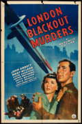 "Movie Posters:Crime, London Blackout Murders (Republic, 1943). One Sheet (27"" X 41"").Crime.. ..."