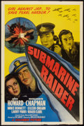 "Movie Posters:War, Submarine Raider (Columbia, 1942). One Sheet (27"" X 41""). War.. ..."