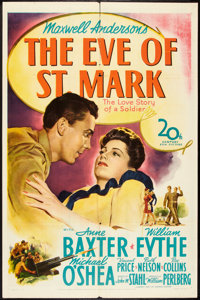 "The Eve of St. Mark (20th Century Fox, 1944). One Sheet (27"" X 41""). War"