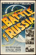 "Movie Posters:War, The Battle of Russia (20th Century Fox, 1943). One Sheet (27"" X 41""). War.. ..."
