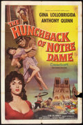 "Movie Posters:Horror, The Hunchback of Notre Dame (Allied Artists, 1957). One Sheet (27"" X 41""). Horror.. ..."