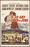 "Movie Posters:War, D-Day The Sixth of June (20th Century Fox, 1956). One Sheet (27"" X41""). War.. ..."