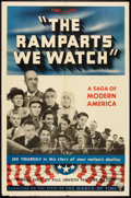 "Movie Posters:Drama, The Ramparts We Watch (RKO, 1940). One Sheet (27"" X 41""). Drama....."