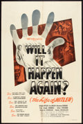 "Movie Posters:Documentary, Will it Happen Again? (The Life of Hitler) (Film Classics, Inc., 1948). One Sheet (27"" X 41""). Documentary.. ..."