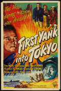 "Movie Posters:War, First Yank Into Tokyo (RKO, 1945). One Sheet (27"" X 41"") War.. ..."
