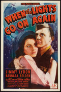 """Movie Posters:Drama, When the Lights Go On Again (PRC, 1944). One Sheet (27"""" X 41""""). Drama.. ..."""