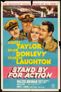 """Stand By For Action (MGM, 1943). One Sheet (27"""" X 41"""") Style C. War"""