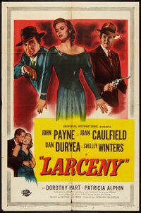 "Larceny (Universal International, 1948). One Sheet (27"" X 41""). Crime"