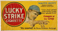 "Baseball Collectibles:Others, 1928 Waite Hoyt ""Lucky Strike"" Trolley Sign...."