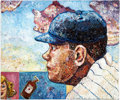 Baseball Collectibles:Others, 2008 Babe Ruth Original Oil Painting by Grant Smith....