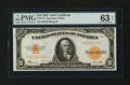 Large Size:Gold Certificates, Fr. 1173 $10 1922 Gold Certificate PMG Choice Uncirculated 63EPQ....