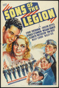 """Movie Posters:Drama, Sons of the Legion (Paramount, 1938). One Sheet (27"""" X 41""""). Drama.. ..."""
