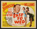 """Movie Posters:Musical, Easy To Wed (MGM, 1946). Lobby Card Set of 8 (11"""" X 14""""). Musical.. ... (Total: 8 Items)"""