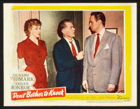 """Don't Bother to Knock (20th Century Fox, 1952). Lobby Cards (3) (11"""" X 14""""). Thriller. ... (Total: 3 Items)"""