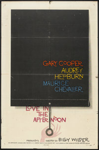 """Love In The Afternoon (Allied Artists, 1957). One Sheet (27"""" X 41""""). Romance"""
