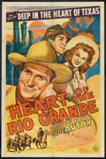 """Movie Posters:Western, Heart of the Rio Grande (Republic, 1942). One Sheet (27"""" X 41""""). Western.. ..."""