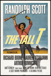 """The Tall T (Columbia, 1957). One Sheet (27"""" X 41""""). Western"""