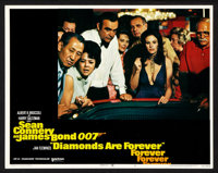 """Diamonds Are Forever (United Artists, 1971). Lobby Card Set of 8 (11"""" X 14""""). James Bond. ... (Total: 8 Items)"""