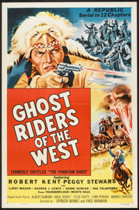 """Ghost Riders of the West (Republic, R-1954). One Sheet (27"""" X 41""""). Serial"""