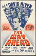 "Movie Posters:War, The Way Ahead (20th Century Fox, 1945). One Sheet (27"" X 41"").War.. ..."