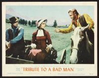 """Tribute to a Bad Man Lot (MGM, 1956). Title Lobby Card and Lobby Cards (5) (11"""" X 14""""). Western. ... (Total: 6..."""