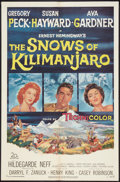 "Movie Posters:Adventure, The Snows of Kilimanjaro (20th Century Fox, 1952). One Sheet (27"" X41""). Adventure.. ..."