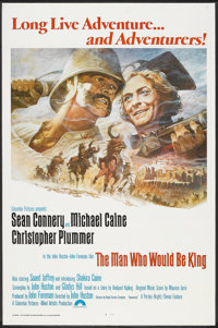 """The Man Who Would Be King (Columbia, 1975). One Sheet (27"""" X 41"""") Flat Folded. Adventure"""