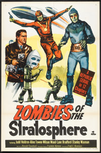 """Zombies of the Stratosphere (Republic, 1952). One Sheet (27"""" X 41""""). Serial"""